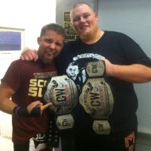 Frequent guest Scotty Slade, former tag champs with the big man