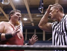 Brian humbly apologizes to guest ref John Cena