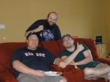 """Brian & Mike with Eric """"Mucko"""" Arsenault (RIP), who is shouted out at the end of every episode"""