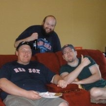 "Brian & Mike with Eric ""Mucko"" Arsenault (RIP), who is shouted out at the end of every episode"